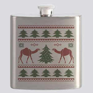 Hump Day Inspired Camel Ugly Sweater Flask